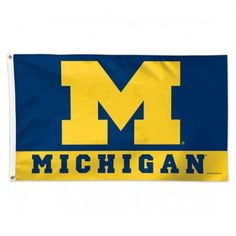 Michigan Wolverines Flag 3x5 Deluxe