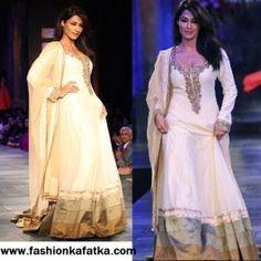 Are you found of #Anarkali #lehenga? See how Chitrangada Singh Style White Floor Length Anarkali Suit let you decorate your events! Once visit FKF online & buy it