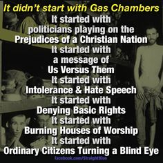 It didn't start with gas chambers