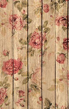 Wallpaper wood and roses