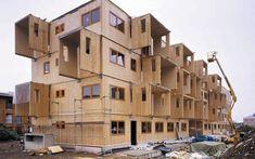 Bâtiment préfabriqué / en bois / à ossature bois / pour logement collectif - JUDENBURG - KLH Massivholz