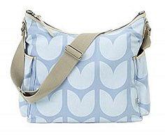 OiOi Light Blue Tulip Hobo Diaper Bag
