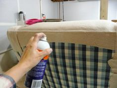 DIY slipcover with minimal sewing - love this idea for our rocking chair in the playroom!