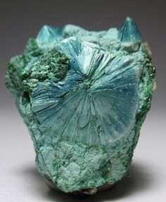 Plancheite occurs as a secondary mineral in the oxidized zones of copper deposits/ M'Sesa Mine, Congo