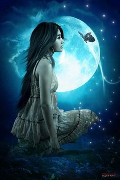 Moonlight Art Images Story by Jezey. Fantasy Creatures, Mythical Creatures, Eddie Van Feu, Fantasy Women, Fantasy Art, Fairy Land, Fairy Tales, She Wolf, Digital Art Girl