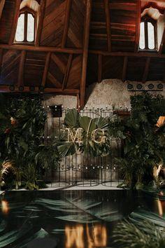 Jungle Glam Playa del Carmen Destination Wedding Shabby Chic Decor, Boho Decor, Dance All Day, Table Garland, Floral Chandelier, Remodeling Mobile Homes, Ceremony Backdrop, Luxury Homes Interior, Diy Wedding Decorations