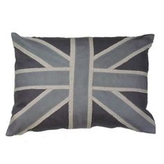 Union Jack in Grey Linen Lacefield Designs