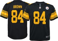 e2bdd932a28 Nike Youth Color Rush Game Jersey Pittsburgh Steelers Antonio Brown #84