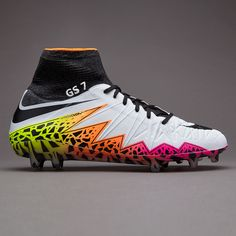 info for dc0bc 9e5ab Nike Hypervenom Phantom II FG - White Black Total Orange Volt Mens Soccer