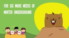 Groundhog Day |  I'm A Little Groundhog Day Song for Kids With Lyrics