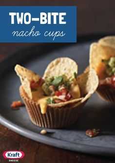 Two-Bite Nacho Cups – Sure, there's something fun in a communal plate of nachos. But there's also no denying the joy of having an adorable two-bite nacho cup all to yourself.