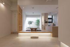 팔레트가든(palette garden) - 상가주택 인테리어 Living Room Art, Living Area, Casa Muji, Modern Study Rooms, Muji Home, Japanese Interior Design, Japanese House, Small Spaces, New Homes