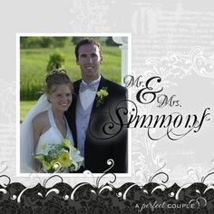 A Perfect Couple - digital photo book / scrapbook page - Detailed Instructions from the Creative Memories Project Center: http://projectcenter.creativememories.com/digital/2010/03/a-perfect-couple-layout.html#