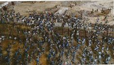 Thomas Feely said he used more than 2,000 figures in his Alamo diorama, and carefully researched the uniforms, weapons and other details depicted in the battle scene. This photo shows the north wall of the compound, where some of the heaviest fighting occurred on the morning of March 6, 1836. Photo: Courtesy Photo / Courtesy Photo