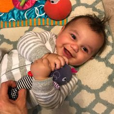 There are 3 more days to enter our giveaway! And this adorable rattle from @mamasandpapas is just one of the awesome prizes! Check out our next post and enter to win! It's easy, we will be drawing the winner live on Monday!