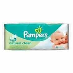 Pack 64 Lingettes Bébés Pampers Natural Clean sur Couches Zone