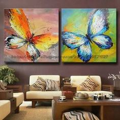 Butterfly paintings, warm and cool colors. Butterfly Painting, Butterfly Art, Butterflies, Paintings I Love, Beautiful Paintings, Warm And Cool Colors, Learn To Paint, Painting Techniques, Painting Inspiration