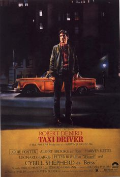 "MP220. ""TaxiDriver"" Movie Poster by Guy Peellaert (Martin Scorsese 1976) / #Movieposter"
