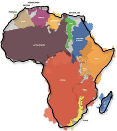 I think this is an important picture for students to see. On most maps, Africa is shown much smaller then it is in real life, so most people don't understand how massive it is.
