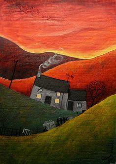 Sunset Evening House