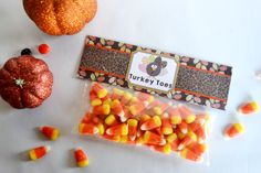 Turkey Toes Zip Bag Toppers. These bag toppers are designed to fit zip top bags. Here's a cute gift for you to set out at the kids table or hand out to school friends, family and neighbors. Make up a bag of goodies and top it off with the turkey toes bag topper.