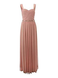 House of Fraser - Beaded Ruched Bodice Dress