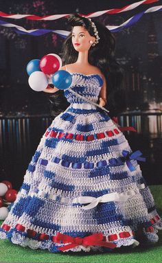 Fashion Doll Dress Annie's Crochet Newsletter by lorrilay on Etsy, $4.99