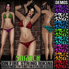 Sn@tch On Fire String Bikini Vendor Ad LG | Flickr - Photo Sharing!