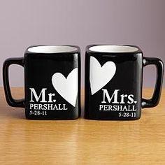Personalized Mr. and Mrs. Black Mug Set  $24.99