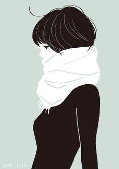 1日1絵:20160315 アイスグリーン Woman Illustration, Pencil Illustration, Kawaii Drawings, Aesthetic Girl, Art World, Art Reference, Cool Art, Cartoon, Artist