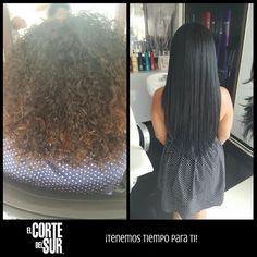 ¡Un gran #Cambio de #Look!  Este es un excelente trabajo de nuestro estilista profesional Carlos Leon, #Alisado, #Color y #Extensiones de cabello natural. ¡Perfecto para renovar tu imagen!  Nosotros te asesoramos, ¡Tenemos tiempo para ti!