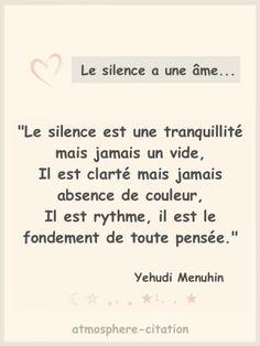 Le silence a une âme