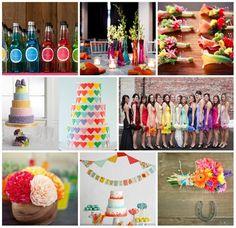 Rainbow Hochzeitsideen | Bunte und Trendige Hochzeit 2014