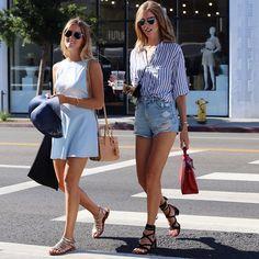 chiaraferragniSisters sisters shopping on Melrose today @valentinaferragni  #TheBlondeSaladGoesToHollywood