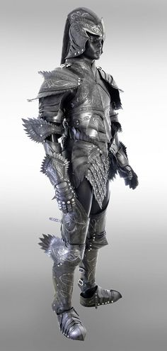 Leather Fantasy Elven Knight Full Suit of Armor Helmet Armor, Arm Armor, Suit Of Armor, Body Armor, Ancient Armor, Medieval Armor, Medieval Fantasy, Armadura Medieval, Fantasy Armor