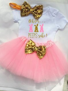 07f887ccf7886 Baby Girl Easter Outfit First Easter Outfit Girl 1st Easter Outfit Oh For  Peeps Sake