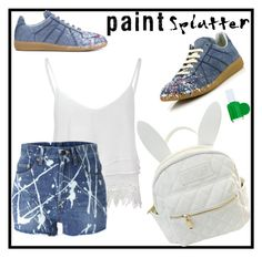 """Paint splatter!!"" by venus-14 ❤ liked on Polyvore featuring Glamorous, Yves Saint Laurent, Essie, cutekawaii, Maison Margiela and paintsplatter"