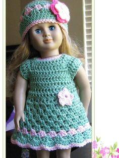 crochet dress pattern for american girl doll