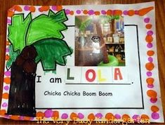 chicka chicka boom boom. Perfect for our abc unit.