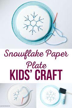 Snowflake Paper Plat