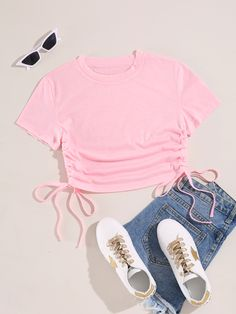 Cute Lazy Outfits, Teen Girl Outfits, Girls Fashion Clothes, Teen Fashion Outfits, Crop Top Outfits, Retro Outfits, Girly Outfits, Outfits For Teens, Trendy Outfits