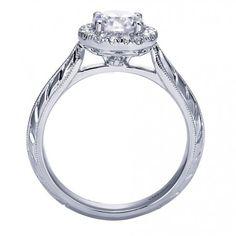 Diamond Halo Engagement Rings : Victorian Halo Engagement Ring ER7829W44JJ