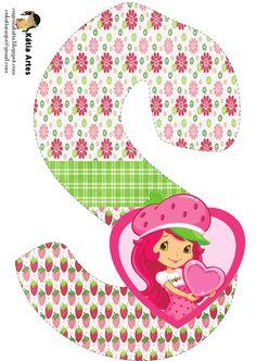 Oh my Alfabetos!: Alfabeto de Strawberry Shortcake con fresas y flores.