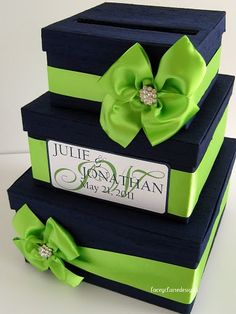 Wedding Card Box Money Holder Personalized by LaceyClaireDesigns, $108.00