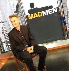 Talking #madmen with #harryhamlin on #newyorklivetv!