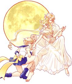 Sailor Uranus and Princess Serenity