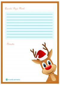 Rudolph el reno carta a Papa Noel para descargar gratis