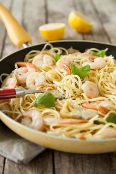 Paula Deen Shrimp Scampi with Artichokes and Basil
