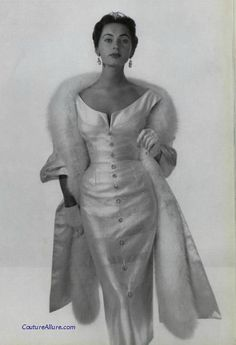 Maggy Rouff, 1953. -Couture Allure Vintage Fashion-