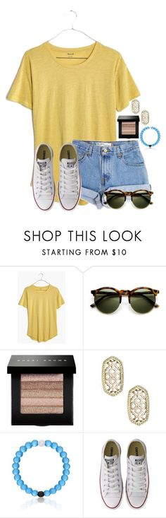 """~Girl look at that car~"" by flroasburn ❤ liked on Polyvore featuring Madewell, Levi's, Bobbi Brown Cosmetics, Kendra Scott and Converse"